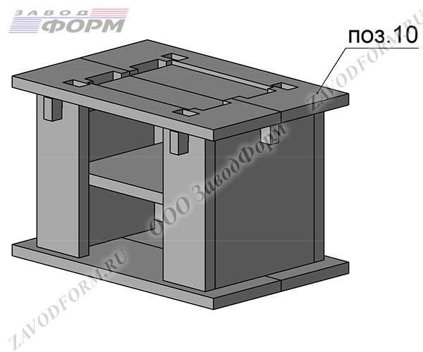 Сверху накладывается крышка хозблока печи, которая является основой для мангала (поз. 10)