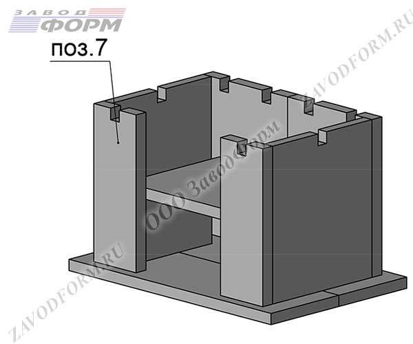 Подобные принцип используется и при установке фасадных стенок (поз.7)