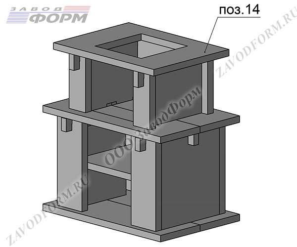 Поверх конструкции накладывается крышка мангала, которая служит основанием для дымохода (поз.14)