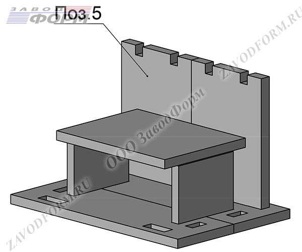 Далее производится установка задней стенки хозблока (поз.5)